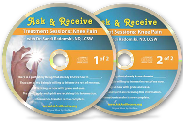 Ask Along for Knee Pain Treatment Sessions audios with Sandi Radomski